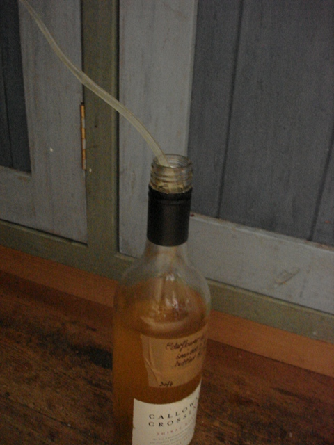 Wine syphoning bottle