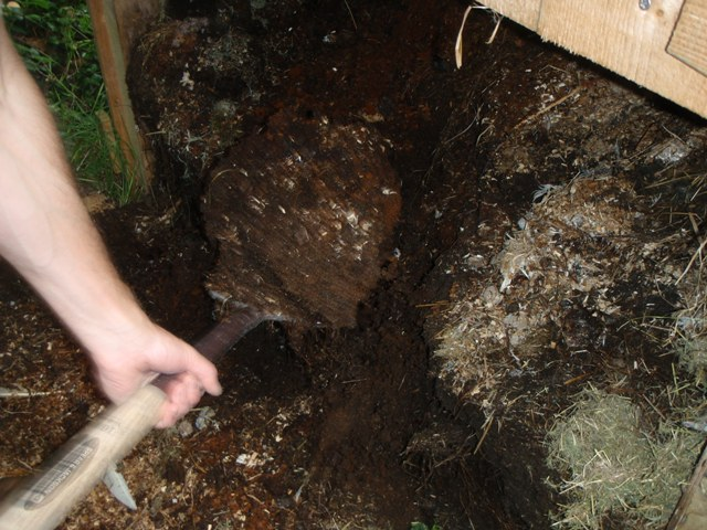 Compost Toilet Being Emptied