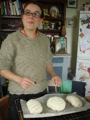 Lina_making_bread